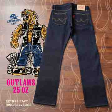 OUTLAWS 25 Oz Extra Heavy Ring Selvedge Unsanforized image