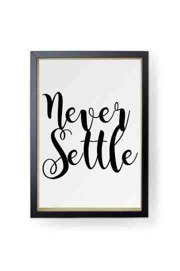 Never settle image
