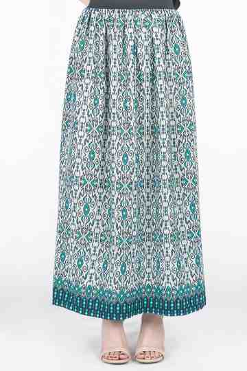 Arini Long Skirt in Green. image