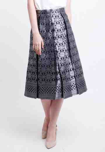Malia Songket Skirt in Silver image