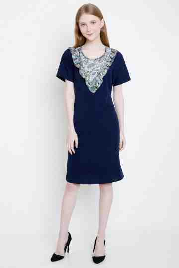 Agni Dress in Navy image