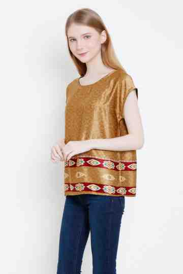 Kanala Top in Gold image