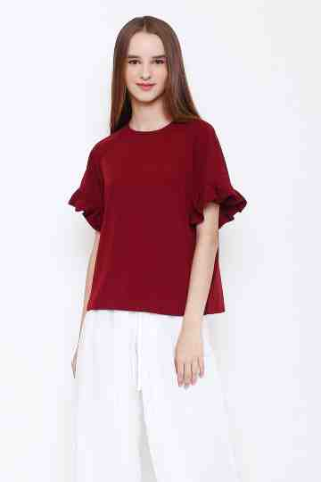 Tammy Top in Maroon image