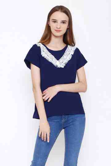Sally Top in Navy image