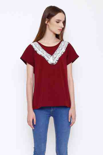 Sally Top in Maroon image