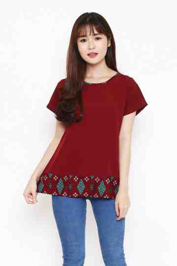 Dila Top in Maroon image
