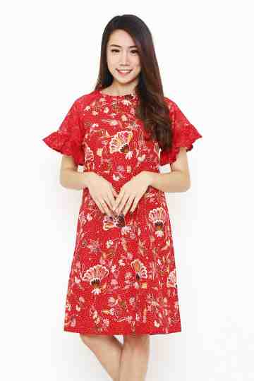 Tisha Dress Red image