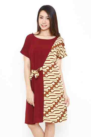 Teresa Dress Maroon image