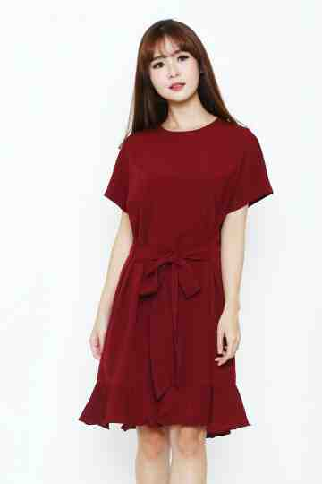 Ashley Dress Maroon image