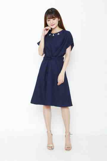 Emma Dress Navy image