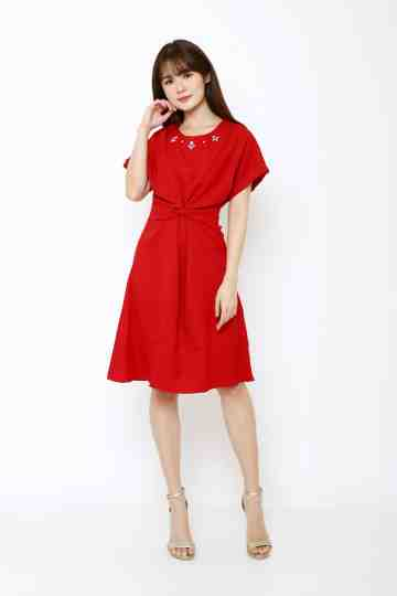 Emma Dress Red image