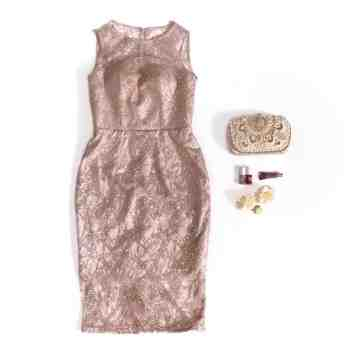 AMARYLLIS DRESS - ROSEGOLD image