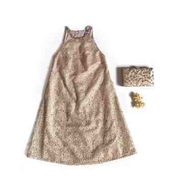 HEBE DRESS GOLD image
