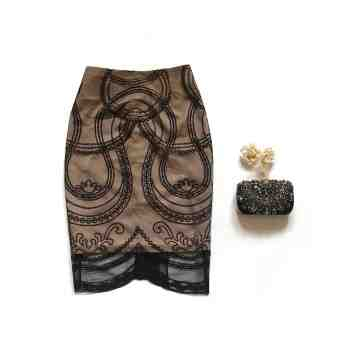 CASSIA SKIRT - BLACK image