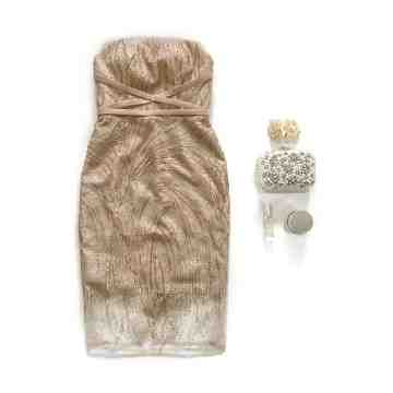 MALVA DRESS - GOLD image