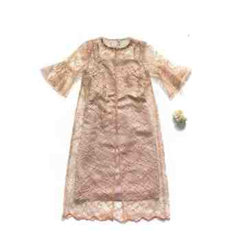 FLORIN DRESS - PEACH GOLD image
