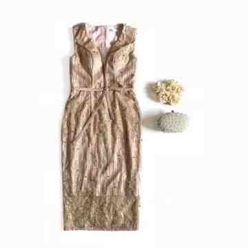 LILAC DRESS - GOLD image