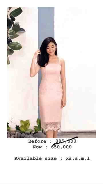 SALE - PLUME DRESS PEACH image