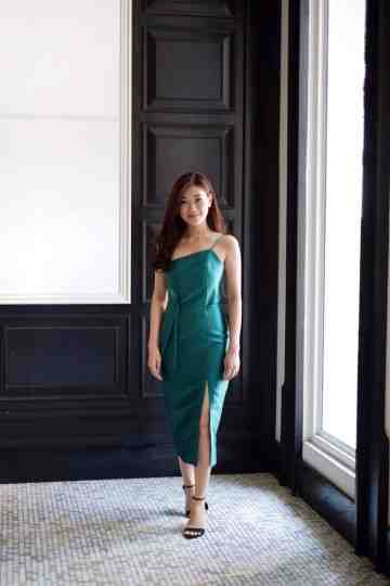 LAVATERA DRESS - EMERALD image