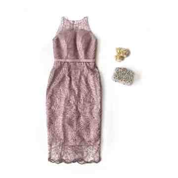 NERINE DRESS - DUSTY PINK image