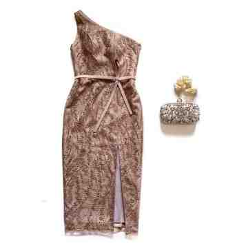 TITHONIA DRESS -DUSTY  BROWN image