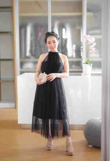 ALYSSA DRESS - BLACK image