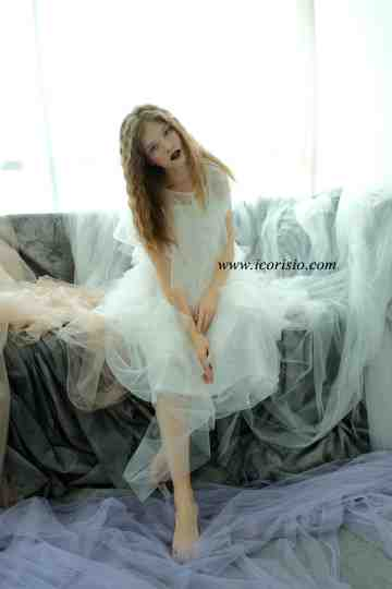 RUVEL LIGHT DRESS - OFF WHITE image