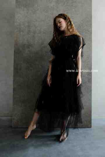 RUVEL LIGHT DRESS - BLACK image