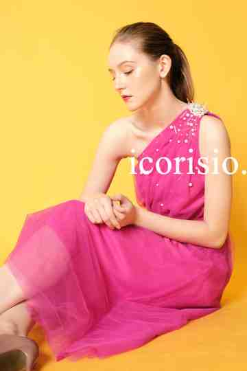 PERLE ONE SHOULDER DRESS - FUSCHIA image