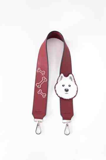 Bag Strap - Samoyed - Maroon image