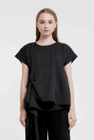 Black Layover Top