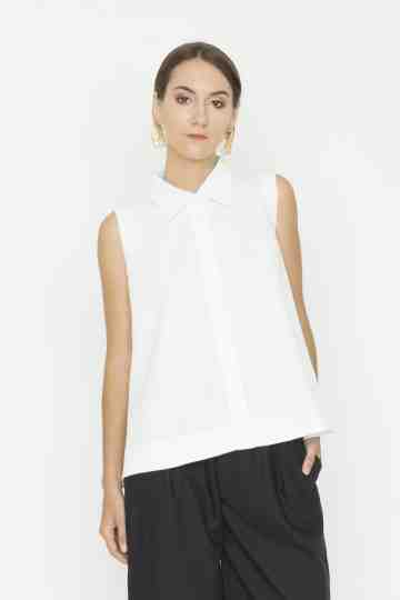 Sleeveless White Adele Top