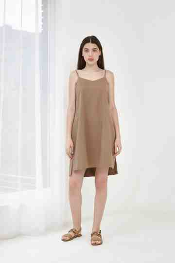 STEP DRESS BROWN