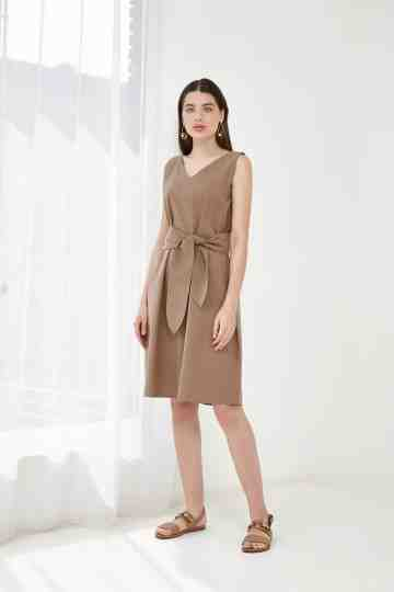 VENICE DRESS BROWN