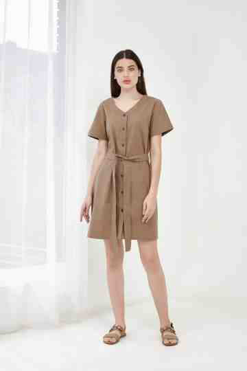 ROME DRESS BROWN