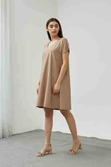 SONNET DRESS TAUPE