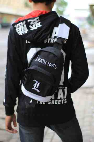 Shoulderbag Denim Deathnote