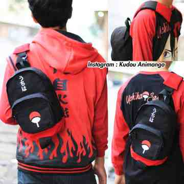 Shoulderbag Denim Uchiha