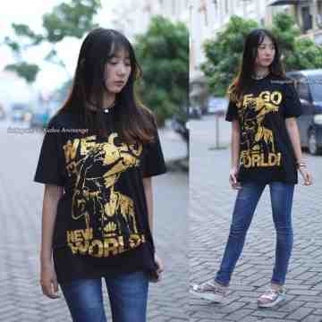 Kaos Luffy New World Gold