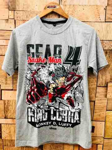 Kaos Luffy Gear 4th King Cobra