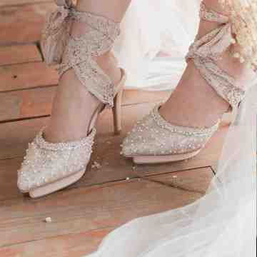 Lace Lynelle Wedding Shoes Breen