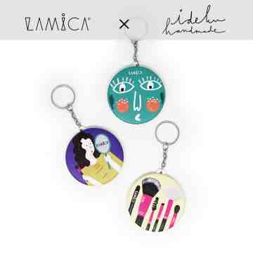 LAMICA x Ideku Handmade - Pin with mirror image