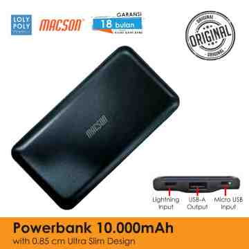 Powerbank 203 - Black 10000 mah image