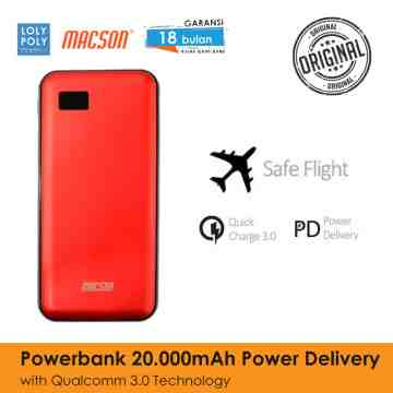 POWERBANK 202 20000mAh - RED image