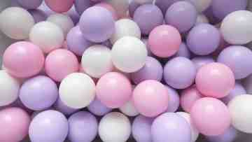 Lavender Pink Ball  Isi 100 Pcs