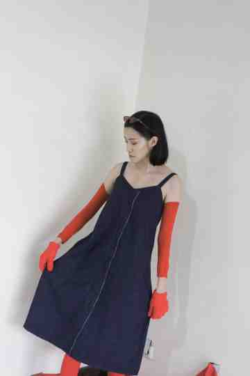 ELENE UNFINISHED DRESS