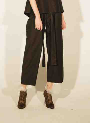 BLACK HALIA KNOT PANTS
