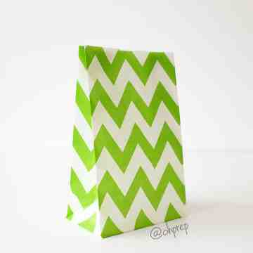 Favor Bag   Chevron  Green image