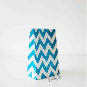 Favor Bag   Chevron  Tosca image