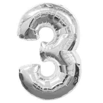 "40"" Number Balloon Silver - 3 image"